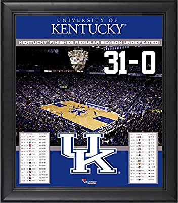 Kentucky Wildcats Framed 15'' x 17'' 31-0 Undefeated Regular Season Collage - Fanatics Authentic Certified