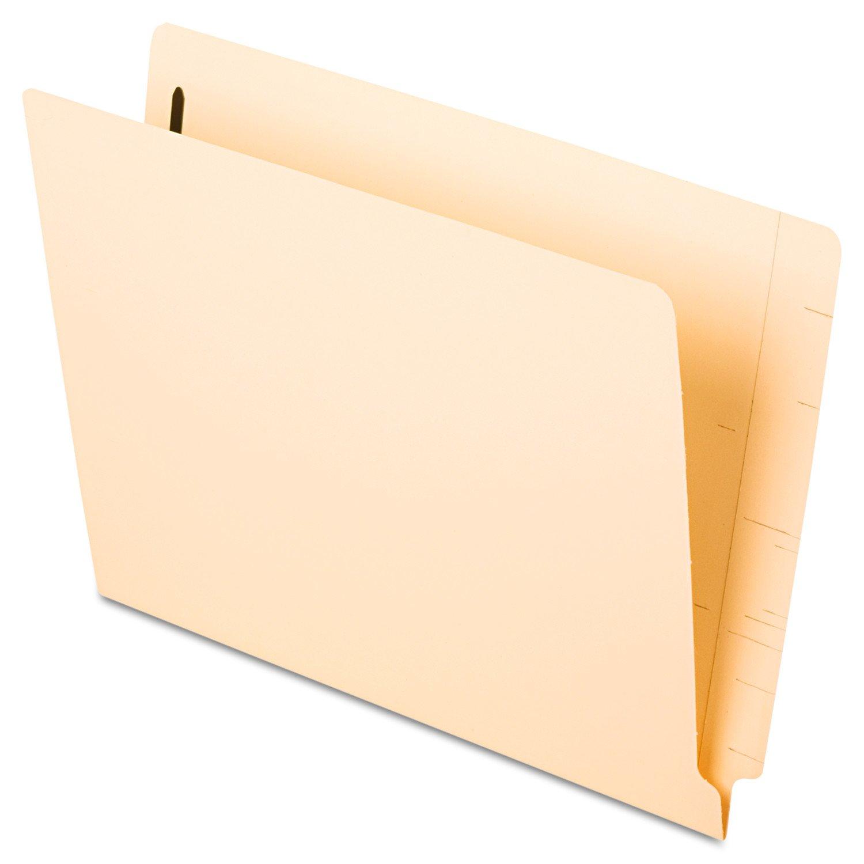 Pendaflex Laminated Spine End Tab Fastener Folder, Position #1, Letter Size, Manila, 50 per Box (13140) Esselte