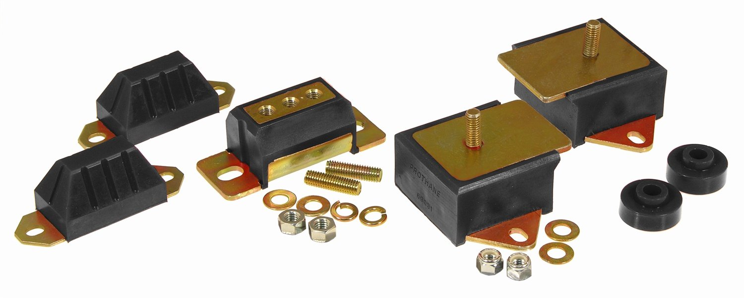 Prothane 1-1901-BL Black Drive Train Kit for CJ5, CJ7 and CJ8