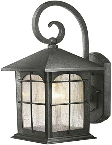 Hampton Bay Aged Iron 7 In. 1 Light Wall Lantern Y37029-151