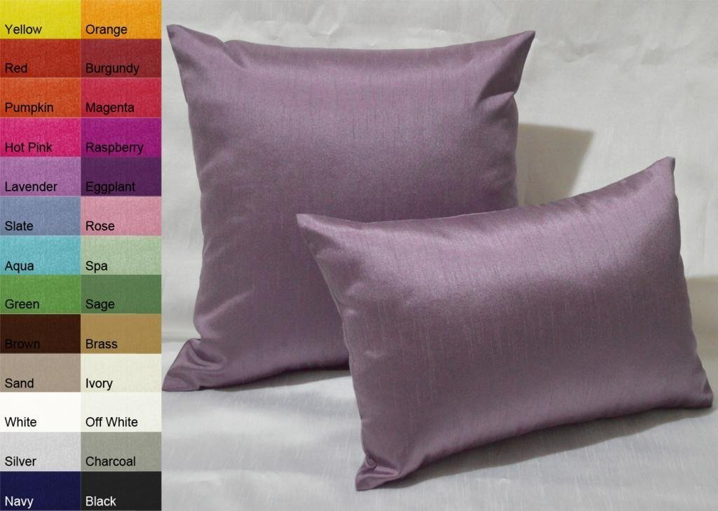 Creative Solid Decorative Pillow Cover / Throw Pillow Cover 12 by 18 - Black Aiking Home Collection COMIN16JU044922