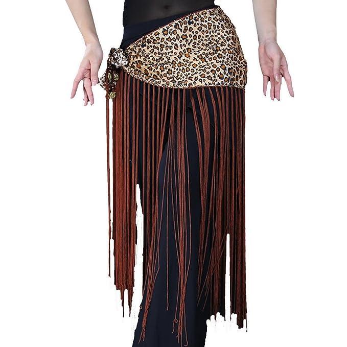 859ebfd20 Amazon.com: Black Friday Deals Belly Dance Exotic Tribal Fringe Belt, Belly  Dance Hip Skirt, Tassel Dancing Scarf (Leopard): Clothing