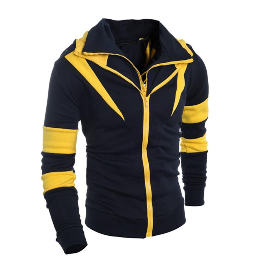 ♚Btruely Herren Hombres Sudadera con Capucha Camisa de Manga Larga Chaqueta con Cremallera Tops Abrigo Deportiva Chaqueta Otoño Hombres