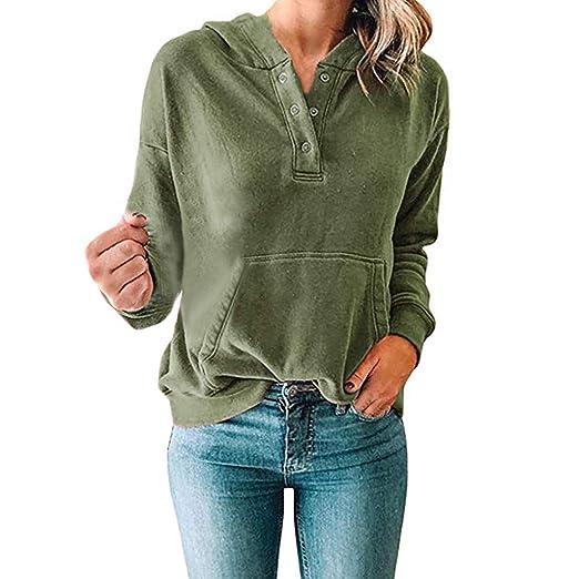 88d994aad9 Dimanul Hoodies 2018 Women Teen Girls Patchwork Loose T-Shirt Long Sleeve  Blouses Sweatshirts Sweater at Amazon Women s Clothing store