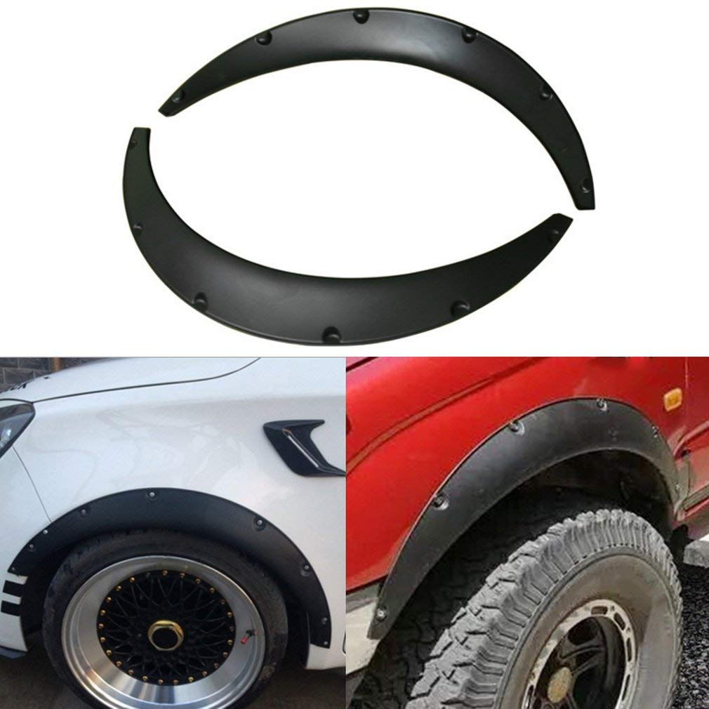 Chrome Auto Wheel Eyebrow Arch Lips Strip Fender Flare Protector 4pcs Set