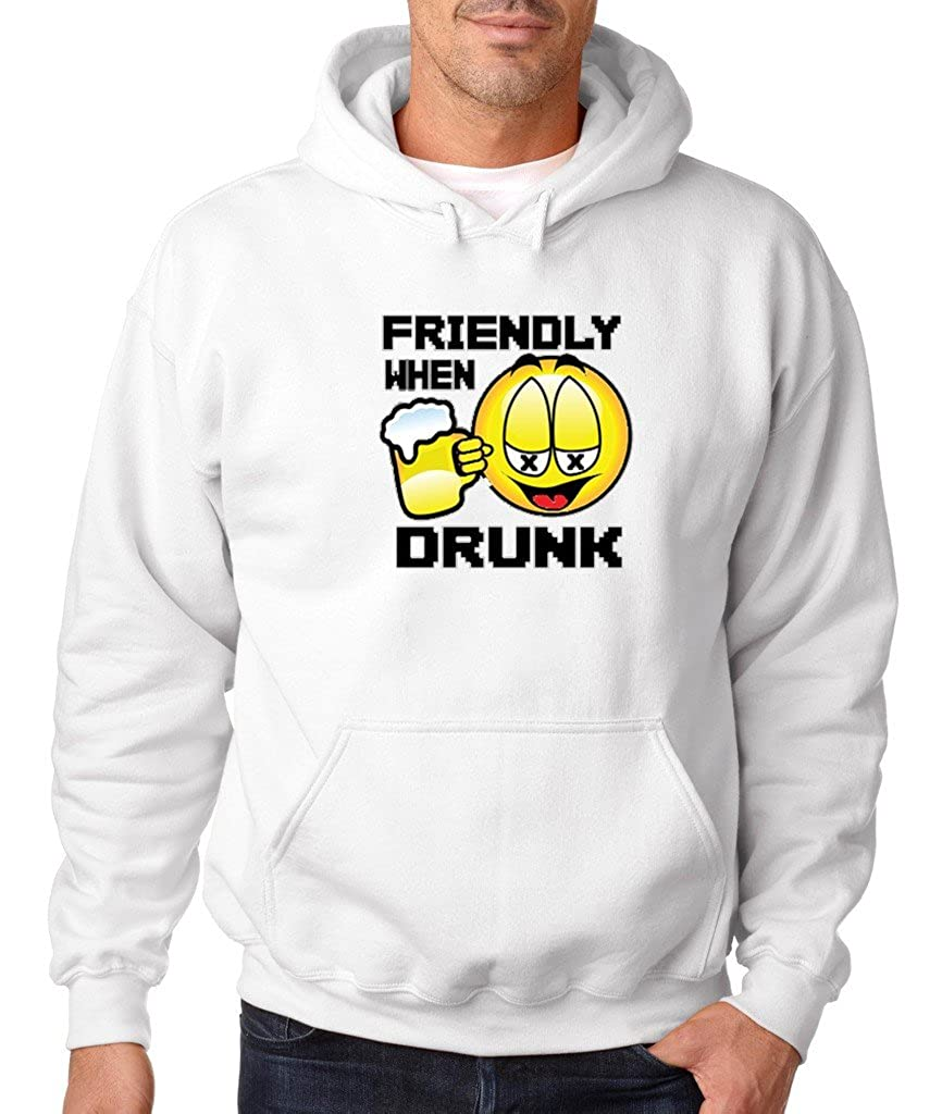 VISHTEA Funny Drunk Emoji Hoodie Funny Emoji Drunk Lives Matter Sweatshirt