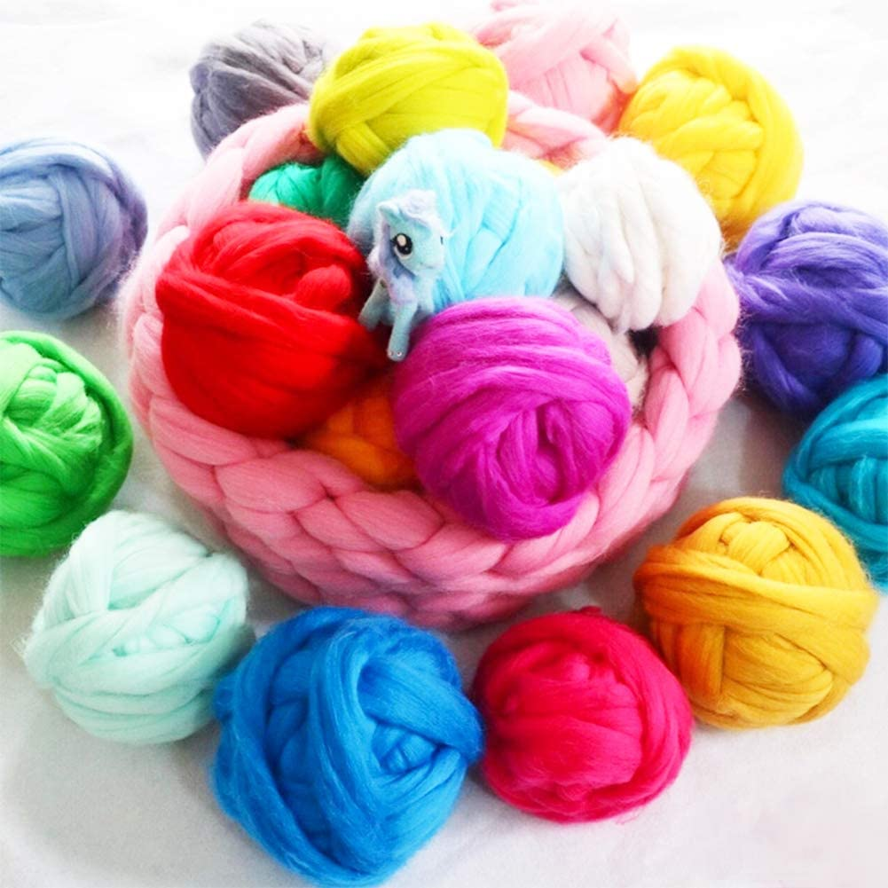 Jupean - Lana de lana de oveja de 3.53 onzas, parte superior de ...