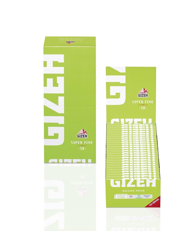 50 Booklets GIZEH Super Fine Rolling Paper Green Box 2500 Papers Mystica 001298