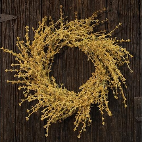 Heart of America Dry Yarrow Wreath 24''
