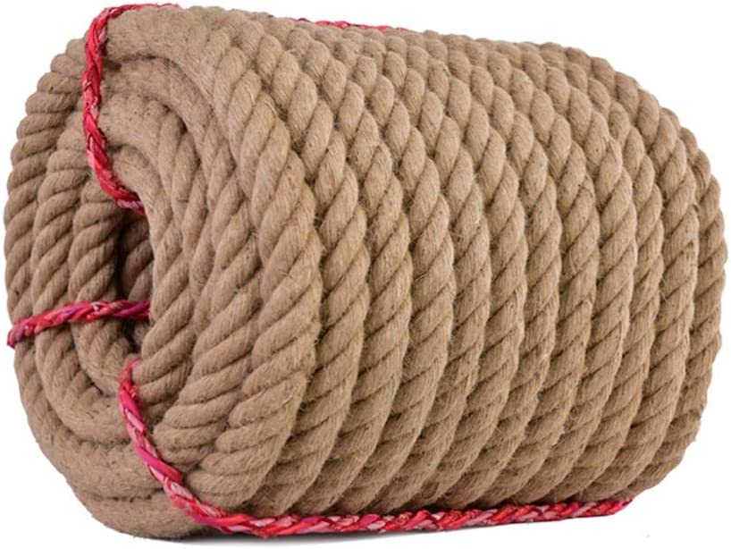 ZSIF Cuerda de cáñamo - 50 mm / 55 mm 5-10 m Cuerdas de Yute Guita Cordón Natural Rústico Country Craft DIY Accesorios Hechos a Mano Decoración Gato Mascota Rascarse (Size : 50MM/7M)