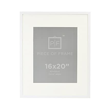 Amazon.com - Golden State Art, 16x20 White Photo Frame, with Ivory ...