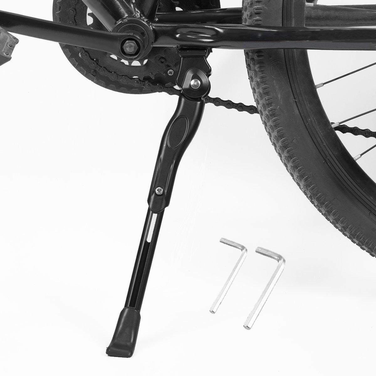 BESTCAN 自転車キックスタンド 調節可能 アルミニウム合金 自転車サイドサポートブラケット 一般的 20インチ 22インチ 24インチ 26インチ 28インチ マウンテンバイク/ロードバイク/BMX/MTB/シティバイク/キッズバイク/スポーツバイク/大人用バイク  Black-22\ B076ZJYYP9
