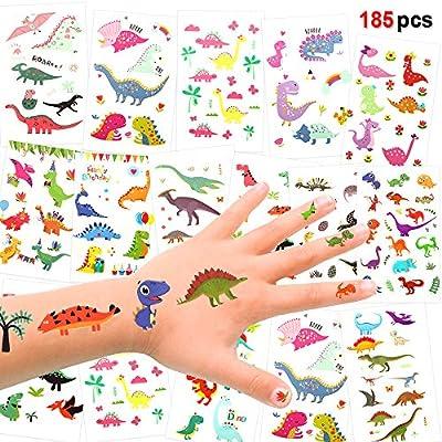 Konsait Tatuajes Temporales para Niños (185 diseños), Dinosaurios ...