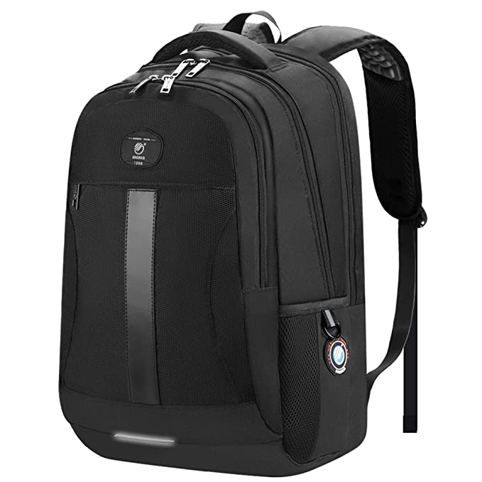 new arrivals 7d191 07cff ... Work Computer Rucksack with USB Charging Port, 15.6-inch Water  Resistant Large College School Bags for Boys Men Women, Black   Amazon.co.uk  Luggage
