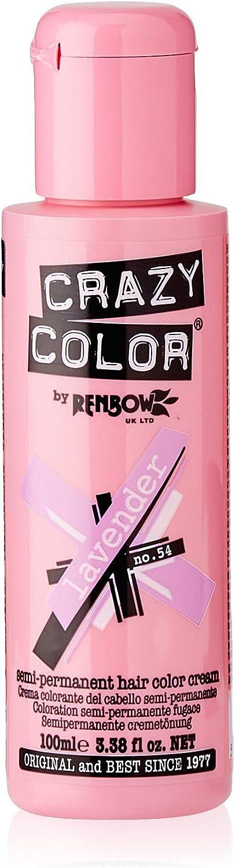 Crazy Color Lavender Nº 54 Crema Colorante del Cabello Semi-permanente