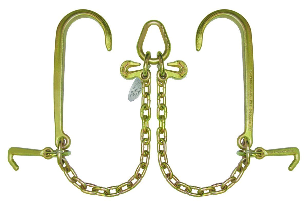 BA Products N711-8J V Chain, G70, Long J, Mini J Hook for Rollback, Flatbed, Car Carrier by BA Products