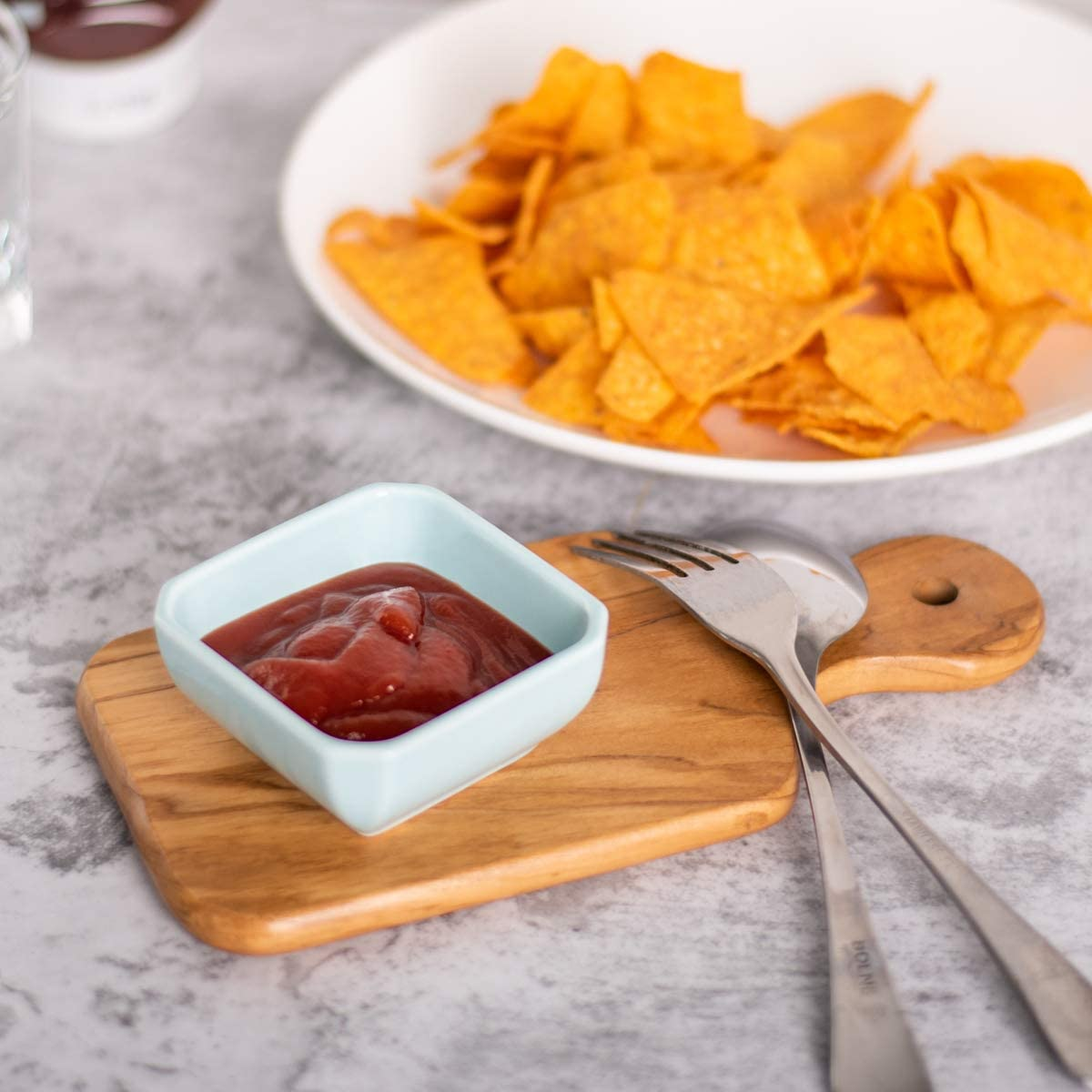 | Delling 3 Oz Ceramic Dip Bowls Set - Dipping Soy Sauce Bowl/Dishes Small Cups for Sushi Tomato Sauce, Soy, BBQ-Chip and Serving Set - Set of 6, Colorful: Chip & Dip Sets