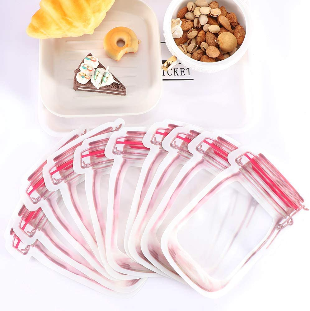 Bolsa de almacenamiento de plástico con cierre zip-lock bolsa 10pcs forma de botella Para el hogar Organización Organizador de Alimentos,L