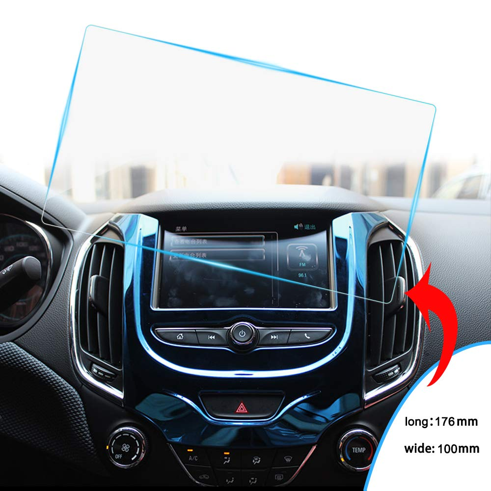 170/×95mm 8X-SPEED Car Navigation Screen Protector Auto Hd Clear Tempered Glass Protective Film Touch Screen Protector Anti Scratch 8-Inch