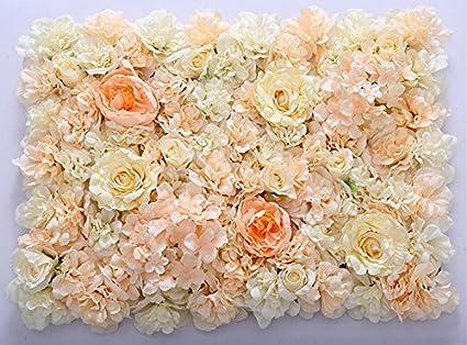 Amazon.com: 40X60cm Artificial Silk Rose Flower Wall Decoration ...