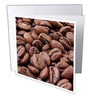3DROSE GC 21354_ 2biglietto di auguri 6x 15,2cm'' alimenti secchi chicchi di caffè (confezione da 12) 2cm alimenti secchi chicchi di caffè (confezione da 12) gc_21354_2