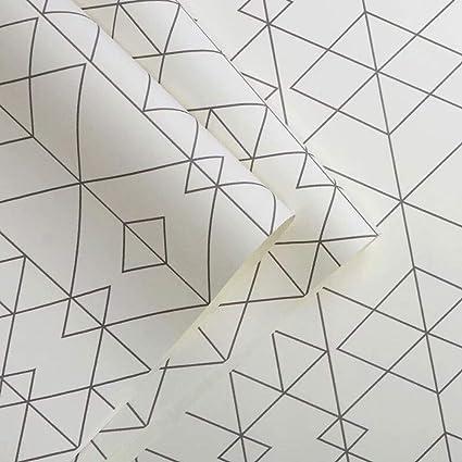 Rhombus Geometric Pattern Modern Minimalist Wallpaper Plaid Living