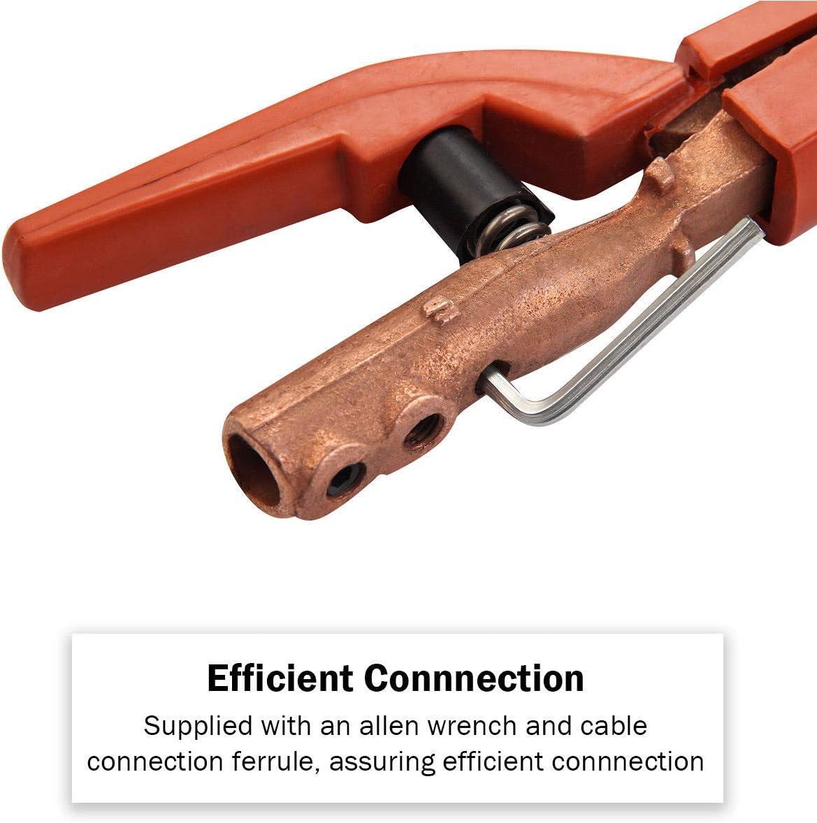 2PC Welding Electrode Holder 300A Copper MMA ARC Stick Welder Welding Clamp Tool