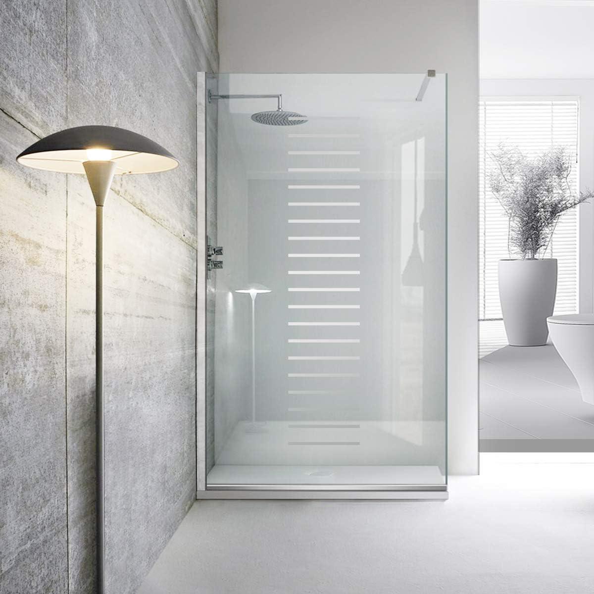 Modern Leroy Timeless Milano - Mampara de ducha (8 mm, cristal templado de seguridad transparente, nano, acero inoxidable SS304), transparente: Amazon.es: Bricolaje y herramientas