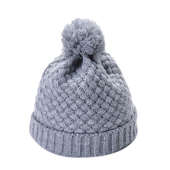 Leisial Sombrero Tejido de Punto Caliente Espesar Otoño Invierno Gorro de  Pelo Sombrero de Pareja para c97d655af45