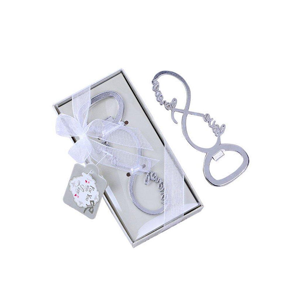 Silver Love Forever Wine Bottle Opener for Wedding Party Favor Bridal Shower by dngcity (Image #1)