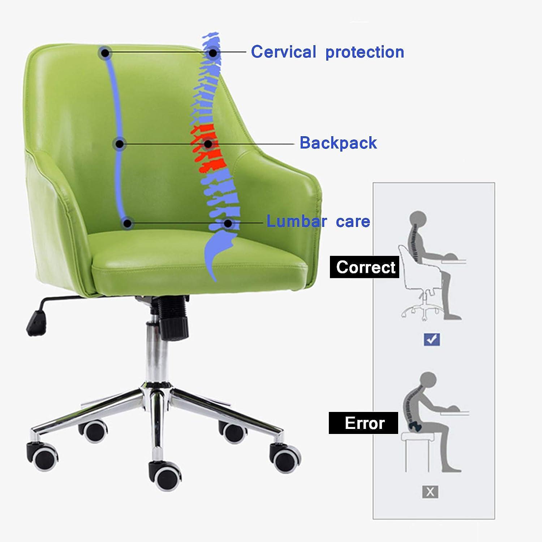 360° svängbar kontorsstol höjd justerbar dator skrivbord stol med ländrygg stöd och armstöd för kvinnor män (max belastning 150 kg) nr 1