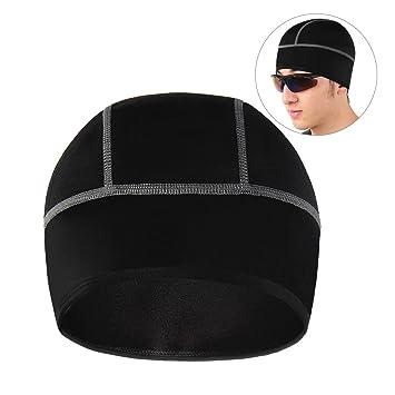 Casco de ciclismo casquillo, NATUCE térmico cráneo gorras gorrita bajo el casco de sombrero para ciclismo de esquí al aire libre - Negro: Amazon.es: ...