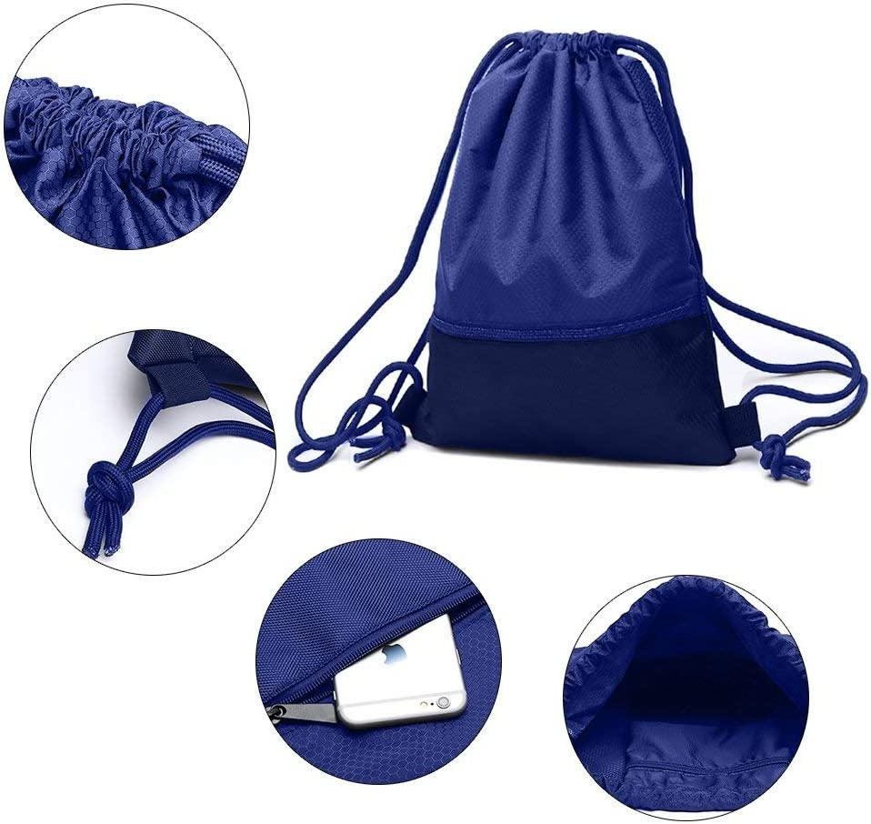 zenwow cord/ón bolsa/ /Bolsa para la escuela mochila de deporte bolsa de nataci/ón Negro con gran bolsillo con cremallera para adultos y ni/ños ni/ños ni/ños ni/& /deportes resistente al agua PE/