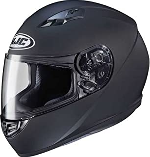 HJC Solid Adult CS-R3 Street Motorcycle Helmet - Matte Black / Large