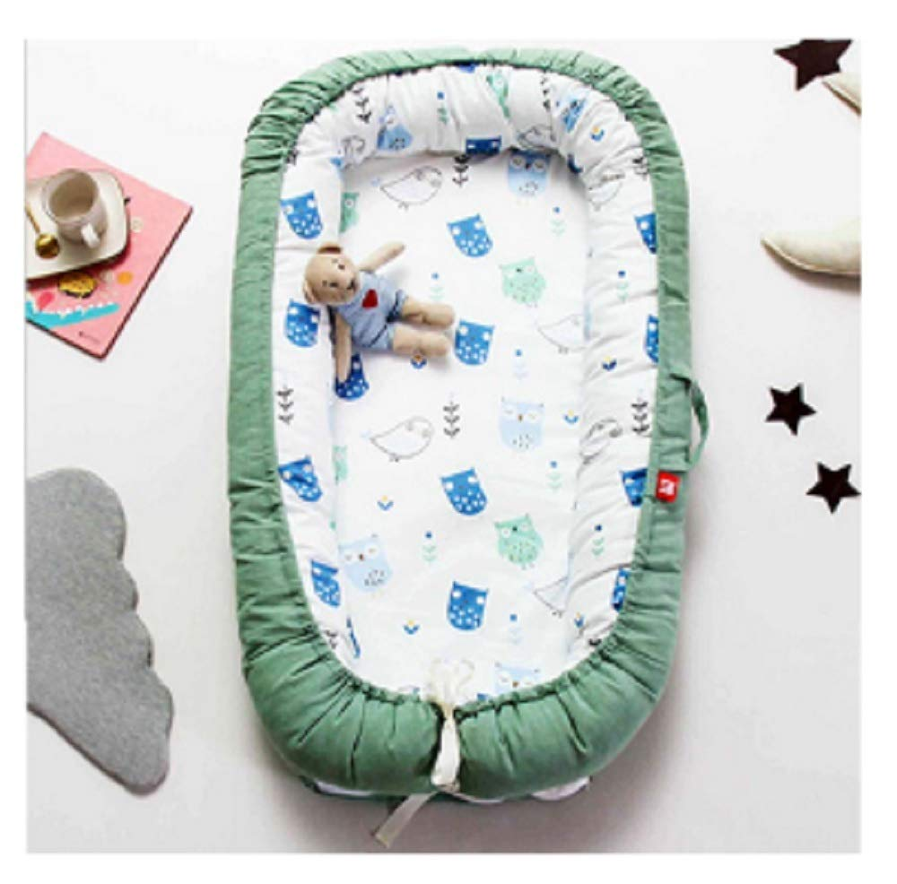 Baby Nest Bed Travel Crib Baby Bed Infant CO Sleeping Cotton Cradle Portable Snuggle 9055cm Newborn Baby Bassinet BB Artifact - Green Forest by Hwealth