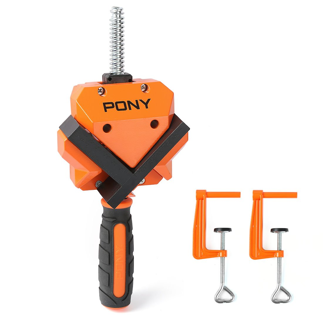 PONY Angle Clamp 90-Degree, Adjustable Corner Vise with 2 Table Clamps for Wood-working, Engineering, Welding