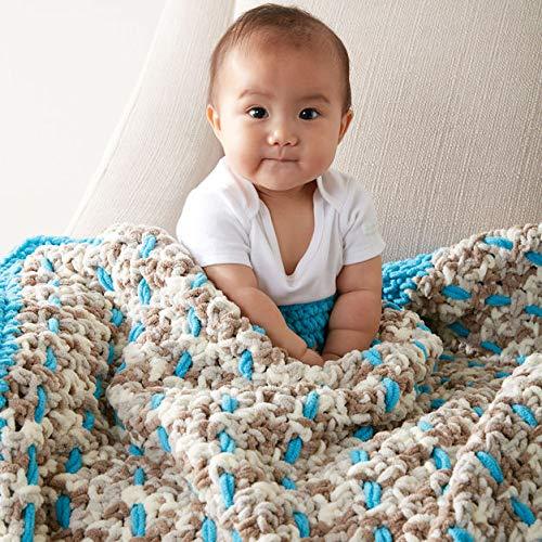 Bernat Baby Blanket Yarn - 6 Pack Bundle with Patterns (Little Sand Castles)