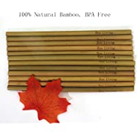 Rye Living - Pajitas de bambú (12 unidades