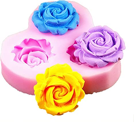 Mini Rosette Fondant Silicone Cake Decorating Mold