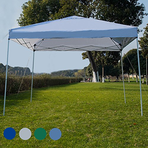 Sundale Outdoor 10 x 10 FT Heavy Duty Pop Up Canopy Waterproof UV-Protected Gazebo Portable Instant Shade Folding Shelter Patio Wedding Party Tent with Wheeled Carrying Bag, White by Sundale Outdoor