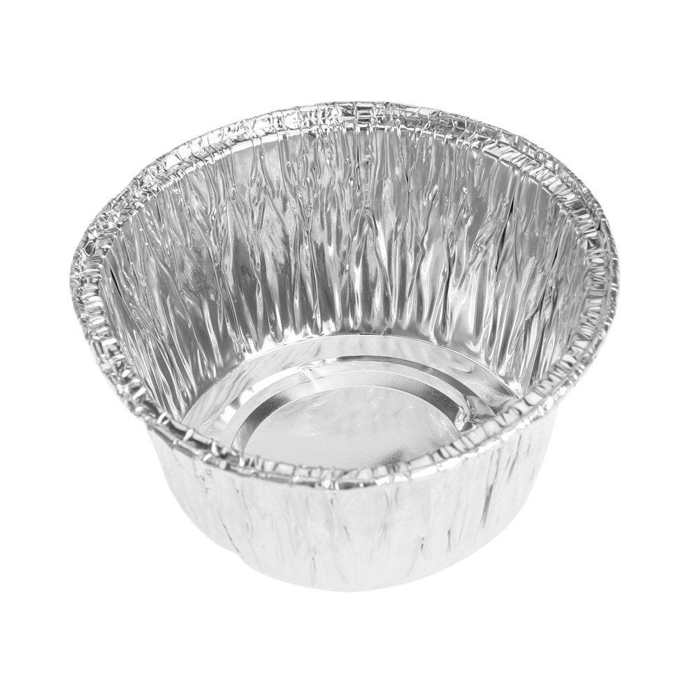 SODIAL moule de tarte Jetable Feuille daluminium pour la Cuisson de Cookie Muffin Cupcake tarte moule rond 150pcs moule de tarte R