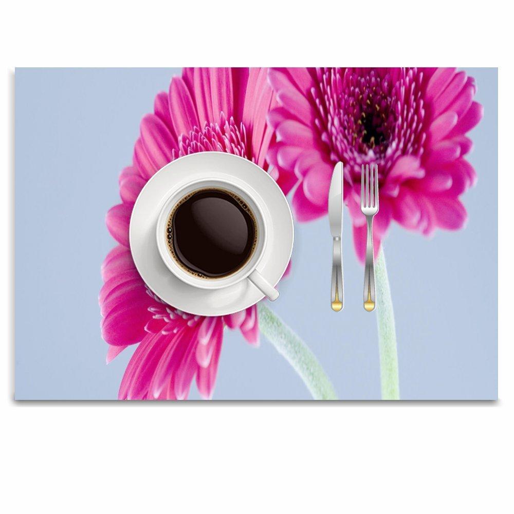 Lovexue プレースマット 洗濯可能 テーブルマット ノンスリップ 断熱 プレースマット クールフレーム 6 PlaceMats88-203 6 色2 B07G9VBSQ5