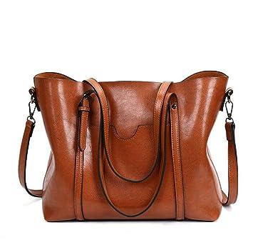 d0f2e827310d8 Wankaol Retro Umhängetasche Europa und Amerika Mode Eimer Tasche Frauen  Tasche PU Leder Handtaschen Schultertasche Tote
