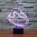 ZY&ZQ Night Light/ 3D Illusion lamp Diamond Ring Modelling LED Light Creative Home