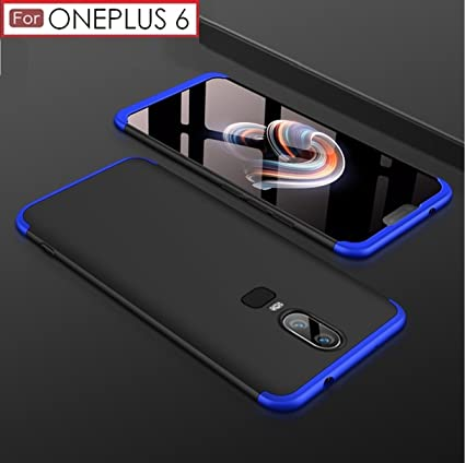 detailed look 11091 e3fe4 Trueupgrade™ Premium Back Case For OnePlus 6 – 3 in 1 Double Dip Case [  Anti Slip ] Super Slim [Hard] Hybrid PC All Angle Protection Lightweight ...