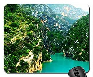 Verdon Canyon, France Mouse Pad, Mousepad (Canyons Mouse Pad, Watercolor style)