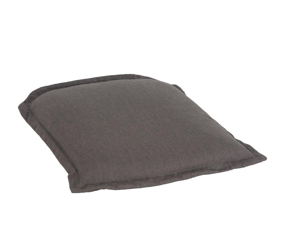 Polsterauflage Stuhlkissen Sitzkissen Sitzauflage Polyester Schwarz 48x47 cm