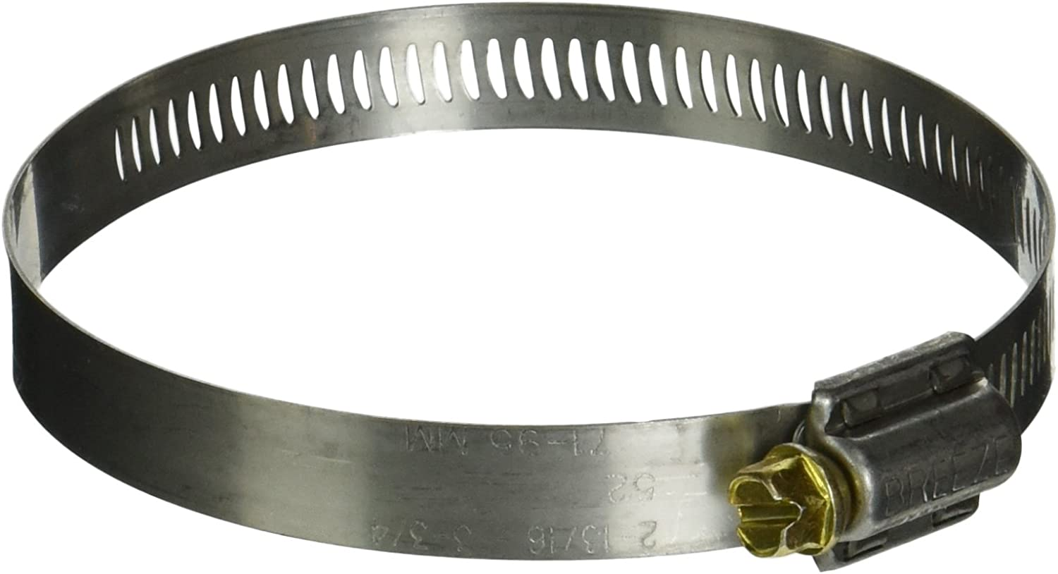 Pack of 10 SAE Size 44 2-5//16 to 3-1//4 Diameter Range Breeze Power-Seal Stainless Steel Hose Clamp Worm-Drive 1//2 Bandwidth