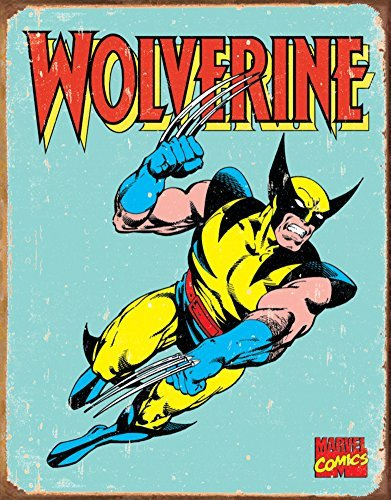Wolverine Retro Tin Sign 12 x 16in