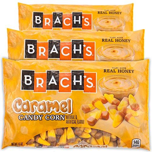 Brachs Halloween Autumn Caramel Candy Corn | 3 Pack 15 Oz | Made With Real Honey (Caramel)